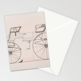Design for 2 seat Phaeton no.3035a 1874 Brewster Co // Retro Drawing Vehicle Transportation Stationery Cards