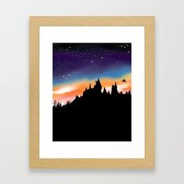 Hogwarts Sunset Framed Art Print