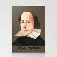 shakespeare Stationery Cards featuring William Shakespeare by Vi Sion