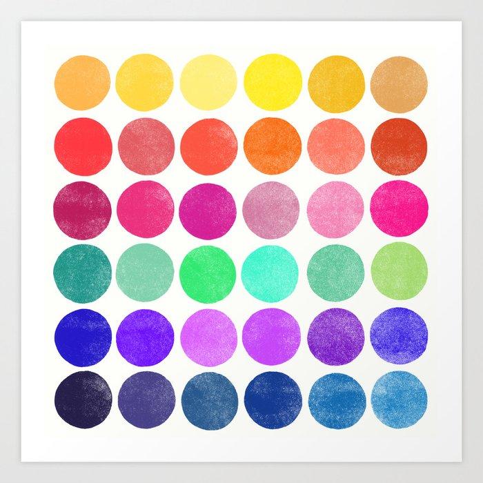 colorplay 6 Art Print