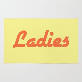 'Ladies' Retro Font Rug