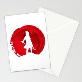 Red sasuke uchiha Stationery Cards