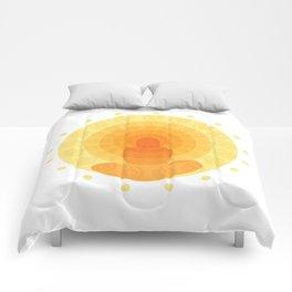 Shiny mandala Comforters