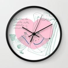 Lark mirror. Wall Clock