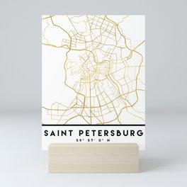 SAINT PETERSBURG CITY STREET MAP ART Mini Art Print
