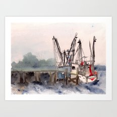 Mayport 3 of 3 Art Print