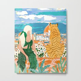 The Italian View #painting #illustration Metal Print