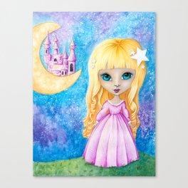 Castle Dreams Girl Canvas Print