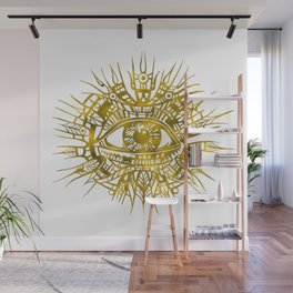 GOLDEN VISIONARY - ALL-SEEING EYE Wall Mural