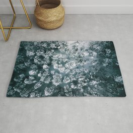 Winter Forest - Aerial Photography Rug