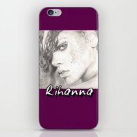 rihanna iPhone & iPod Skins featuring rihanna... by als3