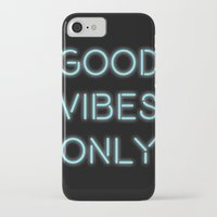 good vibes only iPhone & iPod Cases featuring Good Vibes Only by Ink and Paint Studio
