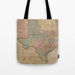 Houston Post map of the great Southwest (1880) Tote Bag
