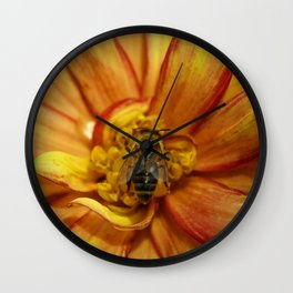 bee Grounded Wall Clock