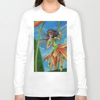 marianna Long Sleeve T-shirts featuring Marianna - Heliconia Haute Couture by Lauralin Maynard