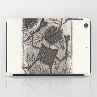 sport iPad Cases featuring Sport crow by KRADA ZHAN ART