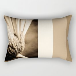 Sepia Gerbera Rectangular Pillow