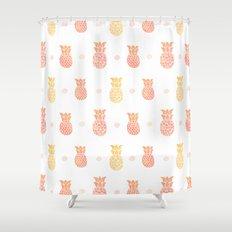 Fresh Summer Pineapple Shower Curtain