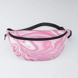 Pastel Pink Swirly Paint Pour Pattern  Fanny Pack