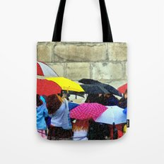 Standing in a Pouring Rain Tote Bag