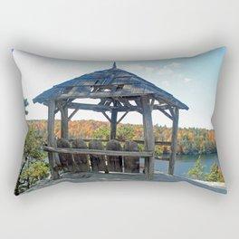 Rustic Gazebo Rectangular Pillow