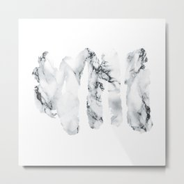 Marble stains Metal Print