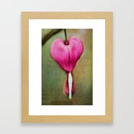 My Heart Bleeds Framed Art Print
