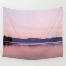 Rose Colored Dream of Lake Tahoe Wall Tapestry
