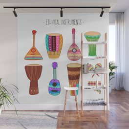 Ethnical Instrument Wall Mural