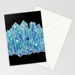 Blue/Green Crystal Cluster Stationery Cards