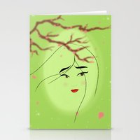 mulan Stationery Cards featuring Mulan by Tiffany Taimoorazy