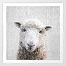Sheep - Colorful Art Print