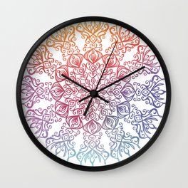Amazing Floral Mandala ART Wall Clock