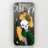 punisher iPhone & iPod Skins featuring The Punisher by Pahito