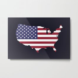 The Territory of the United States I Metal Print
