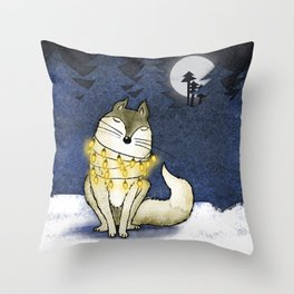 Peace under the Moon Throw Pillow