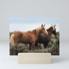 Palomino Buttes Herd - Wild Horses Mini Art Print