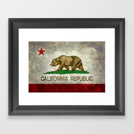 California Republic state flag Vintage Framed Art Print