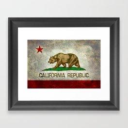 California Republic state flag Vintage Framed Art Print