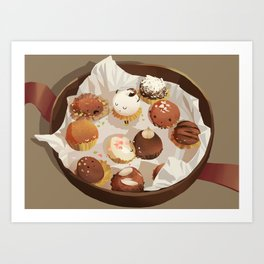 chocolate box life Art Print