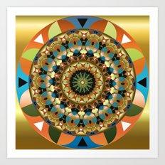Navajo Mandala Art Print
