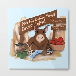 Foo Foo Coffee Metal Print
