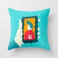 drunk Throw Pillows featuring Drunk Dialing by Mark Conlan