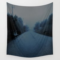 lonely Wall Tapestries featuring Lonely Road by Julie Maxwell