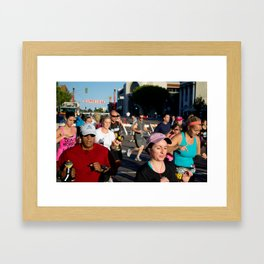 The In Crowd Framed Art Print
