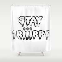 trippy Shower Curtains featuring Trippy by Top Head Culture