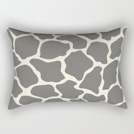 Safari Giraffe Print - Grey & Beige Rectangular Pillow