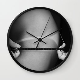 Sexy Bikini Thong Suntan Photo Wall Clock