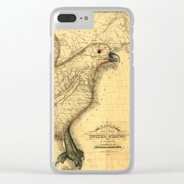 The eagle map of the United States, 1832 Clear iPhone Case