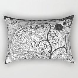 The White Noise Rectangular Pillow